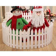 12 Pcs Decorative White Plastic Picket Fence Set For Miniature Fairy Garden Christmas Tree Santa Claus Intl Lazada Ph