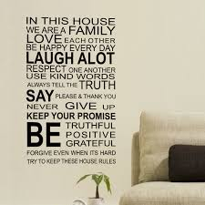 Ebern Designs Family Rules Quote Wall Decal Reviews Wayfair