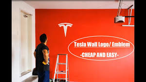 How To Make A Tesla Logo Or Emblem Cheap And Easy Youtube