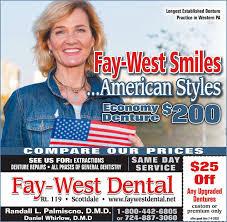 FRIDAY, JUNE 12, 2020 Ad - Fay-West Dental - Observer-Reporter