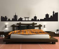 Japanese Village Silhouette Vinyl Wall Decal Sticker 1438 Stickerbrand