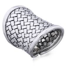 weave thai hill tribe 925 silver ring