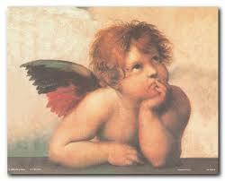 Amazon.com: Raphael Little Angel Wall Decor Cherubini of Sistine ...