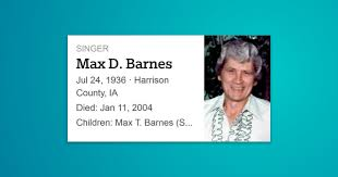 Max Duane Barnes was a country music singer and songwriter. As a  songwriter, Barnes composed many … | Country music singers, Songwriting,  Country music