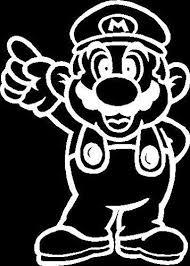 Mario Full Vinyl Car Decal Mymonkeysticker Com