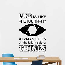 Amazon Com Resordecals Life Is Like Photography Wall Decal Camera Photo Studio Poster Office Quote Photographer Gift Idea Vinyl Sticker Decor Art Print Tt401 Home Kitchen