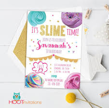 Slime Invitation Slime Birthday Slime Invite Printable Slime
