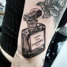 Chanel Tattoo | Tattoo Ideas and Inspiration | Chanel tattoo, Perfume  bottle tattoo, Tattoos