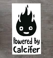 Studio Ghibli Powered By Calcifer Vinyl Sticker Decal For Car Etsy