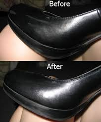 scuff marks on patent leather shoes