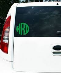 Monogrammed Car Decals And Accessories Carolina Clover