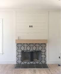 modern fireplace design paint stone