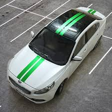 Car Decal Light Green Dual Racing Sport Stripes For K2 K5 Vinyl Hood Roof Rear Sticker Zc699 Racing Stripe Decals Car Hood Decalsdecals For Cars Aliexpress