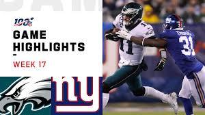 Eagles vs. Giants Week 17 Highlights ...