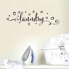 Laundry Room Wall Sticker Decoration Art Murals Vinyl Laundry Sign With Bubbles Decals For Home Wash Room Murals Wallpaper Wall Stickers Aliexpress