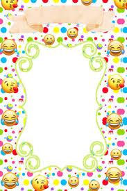 Convites Emoji Invitaciones Emoji