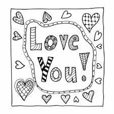 Love You Kleurkaart Te Verkrijgen Bij Kaartje2go Kleurplaten