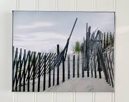 Beach Fence Canvas Photo Beach House Decor Beach Lover Gift Miscellanee