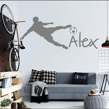 Football Wall Cup Peel Soccer Ball Personalized Name Vinyl Wall Decal Sticker Art Children Wall Sticker Kids Room Decor Y 91 Room Decoration Kids Room Decorationchildren Wall Stickers Aliexpress