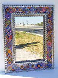 com 33 punched tin mirror