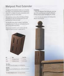 Metal Post Extender 75mm 3 Brown