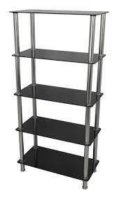 shelving unit chrome legs 5 tier