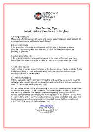 Five Fencing Tips To Help Reduce The Chance Of Burglary