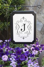 monogrammed outdoor sign outdoor