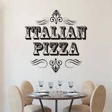 Italian Pizza Sign Wall Sticker Pizza Store Window Decals Restaurant Interior Decoration Pizzeria Vinyl Wall Art Mural Az231 Wall Stickers Aliexpress