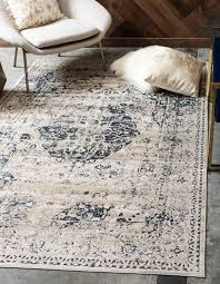 abbeville oriental blue white area rug