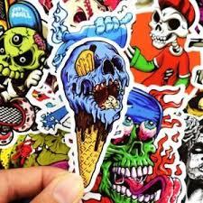 50pcs Lot Car Sticker Decal Vinyl Roll Skate Skateboard Laptop Luggage Skull Ebay