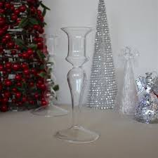 tyrian glass candle stick holder small