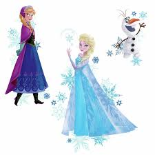 Disney Frozen 3 Big Wall Decals Elsa Anna Olaf Room Decor Stickers W Snowflakes Walmart Com Walmart Com
