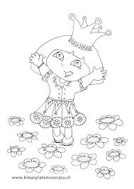 Dora Kleurplaat Prinses Kleurplaten Voor Jou