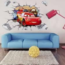 Shop 3d Cars Lightning Mcqueen Mater Wall Sticker Decal Kids Room Mural Nursery Decor Online From Best Wall Stickers Murals On Jd Com Global Site Joybuy Com