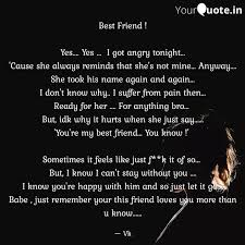 best friend yes ye quotes writings by holding words