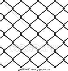 Vector Illustration Chain Link Fence Vector Eps Clipart Gg62250630 Gograph