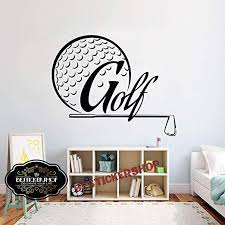 Amazon Com Golf Wall Decal Golf Decals Golf Quotes Decals Sport Wall Decals Vinyl Sticker Room Decal 1685re Home Kitchen