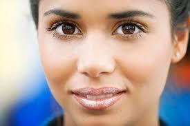 black hair and dark brown eyes