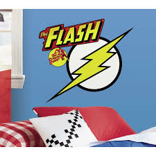 Room Mates The Flash Logo Giant Peel And Stick Wall Decal Reviews Wayfair