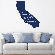 Amazon Com Home Sweet California Wall Decal State Silhouette Vinyl Art For Home Decor Living Room Or Family Room Decoration Handmade