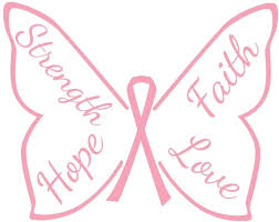 Amazon Com Katazoom Breast Cancer Awareness Wall Decal Butterfly Of Strength Faith Hope Love Removable Vinyl Wall Decal 12 X 10 Pink Home Kitchen