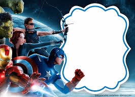 Free Printable The Avengers Invitation Template En 2020