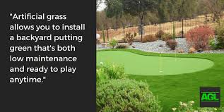 how to create a backyard putting green