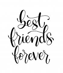 best friends forever hand lettering motivational quotes