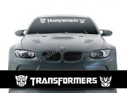 Reflective Transformers Front Windshield Decal Vinyl Car Stickers Auto Accessori Badges Decals Emblems Body Car Stickers Vinyl Car Stickers Transformers