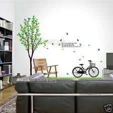 180 Cm Tall Tree Bike Wall Art Decal Quote You Mean The World To Me Ebay
