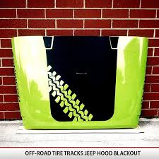 Off Road Tire Tracks Hood Blackout Alphavinyl