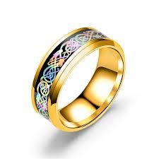 snless steel dragon pattern ring