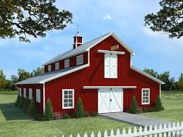 horse barn plan with living quarters